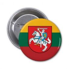 Значок прапор Литви з гербом