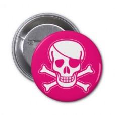"""Значок """"черная метка"""" розовый"""