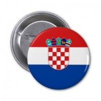 Флаг Хорватии значок круглый