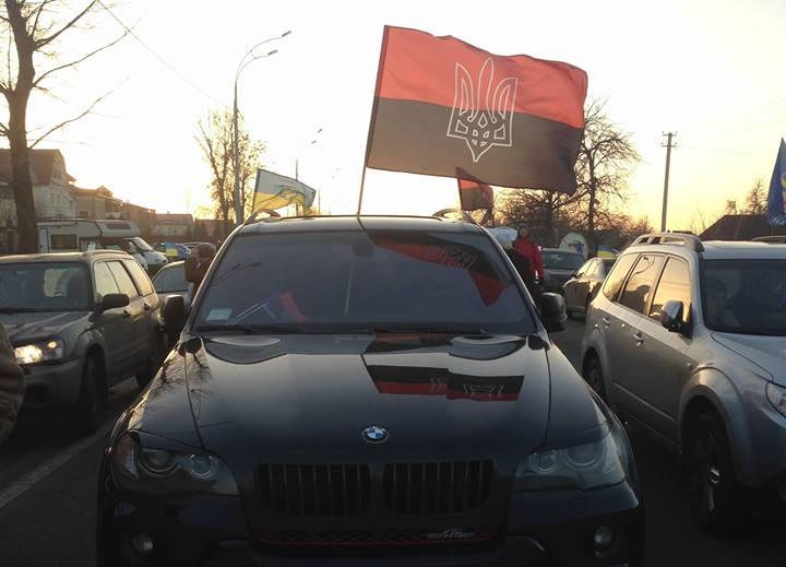 наши флаги в Межигирьи