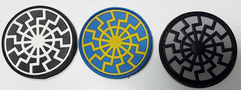 Шевроны ЧЕрное Солнце материал резина